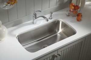 Sparkling clean kitchen sink is essential for good housekeeping