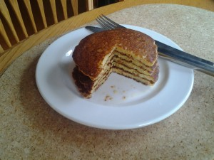 Gluten free breakfast corn pancakes.