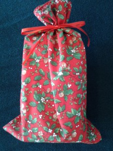 Cloth gift bags make wrapping easy