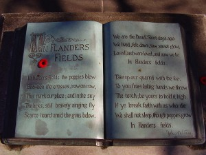 In Flanders Fields J McRae memorial