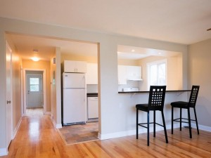 A bright newly renovated apartment after working construction