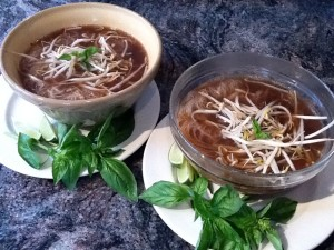 Vietnamese beef pho made at home